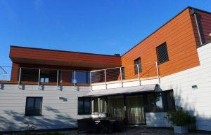 Elmer Holzbau Hausaufstockung mit Exterior Fassade