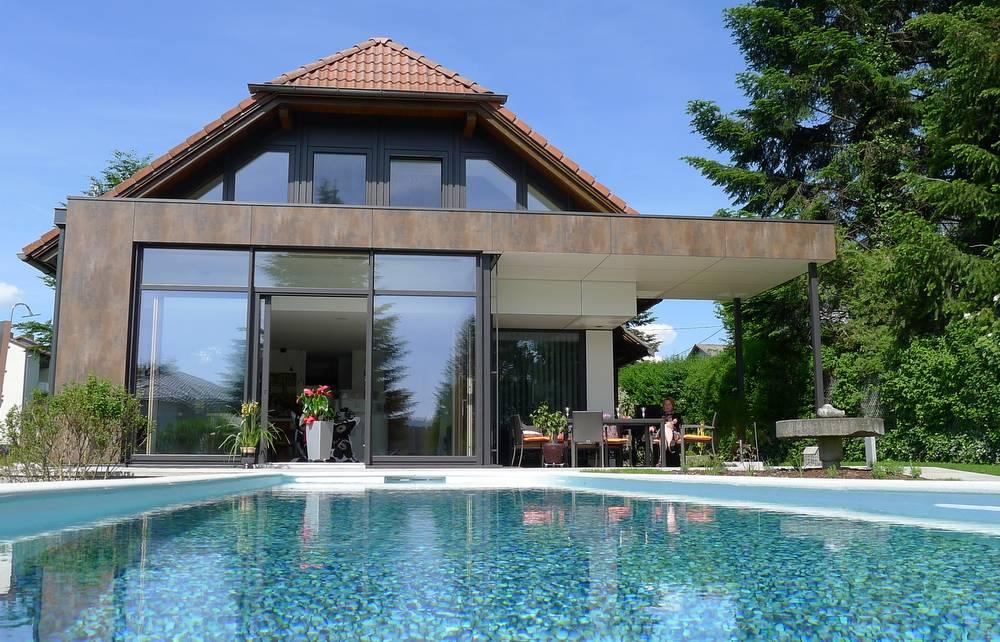 Wohnbox anbau holz alu h chster wohnkomfort elmer o - Wintergarten mit pool ...