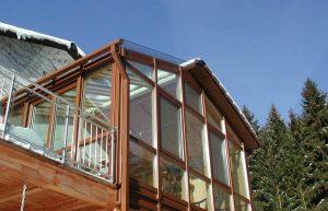 teilweise Glasdach beim Elmer - Wintergarten