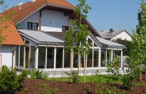 Elmer- Glasdachwintergarten mit Gaupe