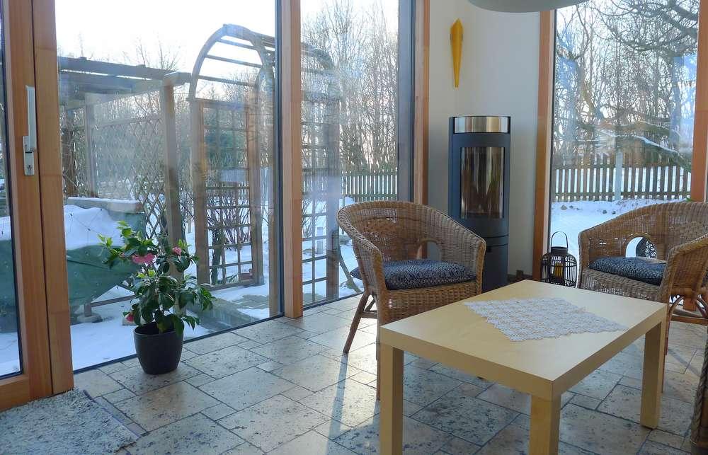 Wohnbox anbau holz alu h chster wohnkomfort elmer o - Ofen im wintergarten ...