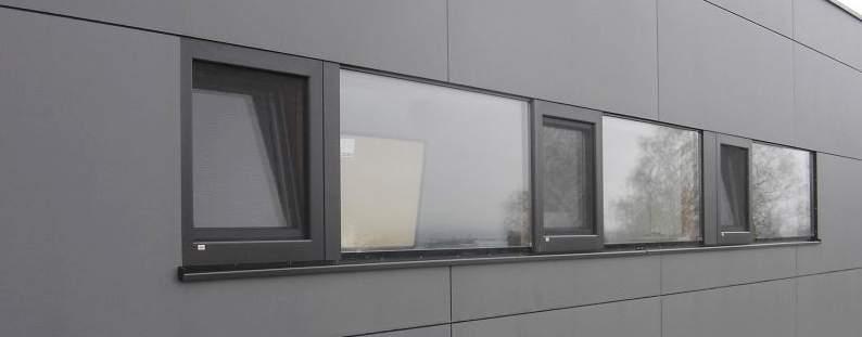 Elmer Fensterband grau flächenbündig
