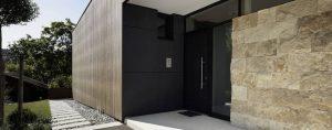 Elmer Hauseingangstür mit Glasfixteil