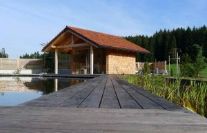 elmer gartenhütte am teich